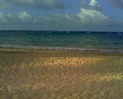 la hermosa playa
