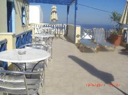 Terrasse commune pour petit déjeuner