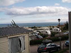 View from our caravan