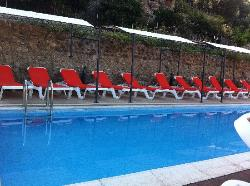 Top terrace - pool and loungers