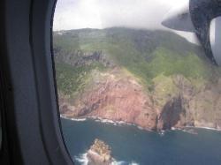 Flying into Saba