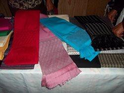arcoiris de algodón hecho rebozo