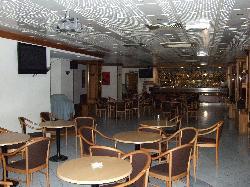 The lounge bar area