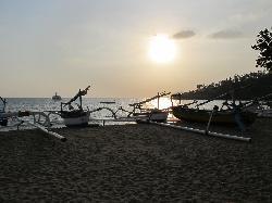 Sunset Senggigi Beach from the hotel