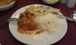 Chicken Tikka Masala and Garlic Naan