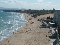 Nessebar south beach from hotel