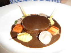 Hare,slow cooked with foie gras