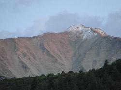 View of Mt. Sopris from our RV site