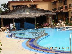 Blue lagoon at the resort