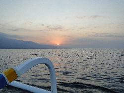 View of the island on the sunset cruise