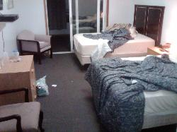 This room was supposedly already cleaned and ready to rent.
