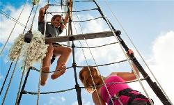 Climbing the rigging is fun
