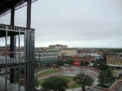 Ellis Square and some of the new construction next door