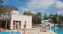 Swimming pools: a sportive swimming pool 25 m long and a swimming pool for children (36432206)