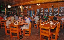 The Kennebec River Pub full-service restaurant is at the main lodge