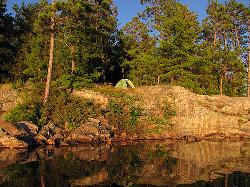 Campsite no. 88 on Bell Lake