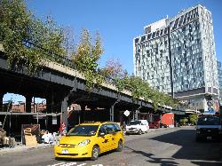 The High Line viewed from street level