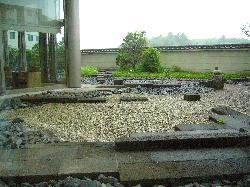 Garden view from restaurant