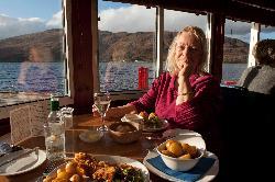 Nikki at the Crannog Restaurant, Fort William, Scotland