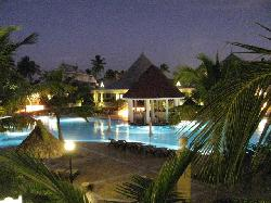 A beautiful evening pool view at the Esmeralda