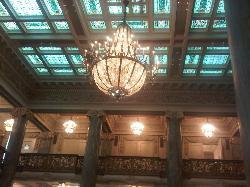 Ceiling at Hotel Utah