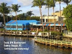 watch the boats pass by while you dine
