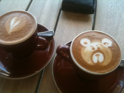Latte art at Costa Noosa