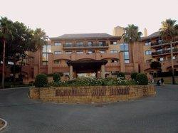 Fachada principal del hotel.