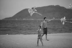 Beach - Playing Kite