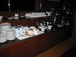 Frühstücksbuffet - aufgenommen um Mitternacht