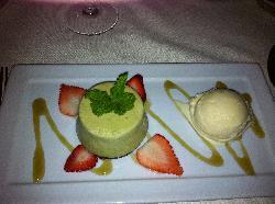 cheesecake au the vert