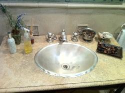 the bathroom in the common area - so pretty