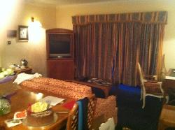 huge lounge to our bedroom suite
