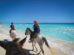 Horseback riding with Ramon Gonzales Mora!  Highlight of our trip!