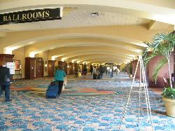 the ballroom area, downstairs in the hotel