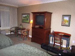 older tv :-( in a nice cabinet