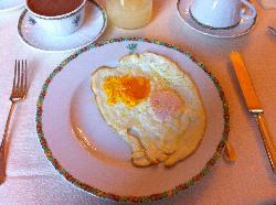 Les oeufs servis au petit déjeuner