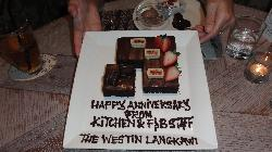 A special cake from the staff on our anniversary.