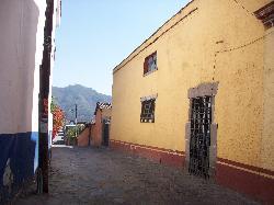 Una de las calles típicas de Malinalco