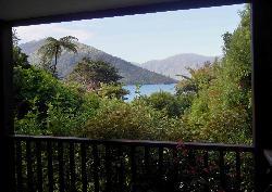 Mahana Lodge view from balcony