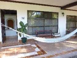 The common patio at the hacienda