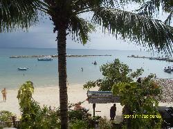 View from upstairs restaurant of Spa Samui's beach.