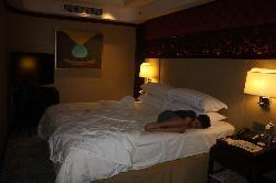 main bedroom in the suite