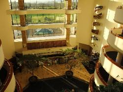 Celtic Manor lobby from 9th floor