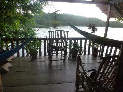 The deck of the family cabana