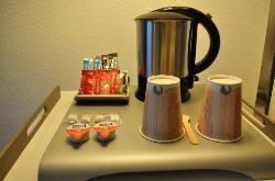 The complimentary tea & coffee