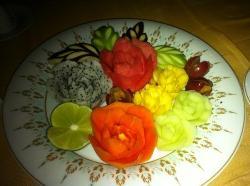 fruit platter at Natai restaurant