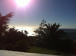 Blick über Camps Bay von der Lodge aus