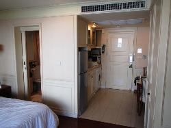 Our room showing Kitchen & washer/dryer