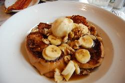 Bananas Foster French Toast with Tahitian Vanilla Bean Ice Cream